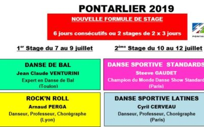 PONTARLIER 2019 – STAGE INTERNATIONAL DE DANSE DE COUPLE